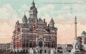 WINNIPEG, Manitoba, Canada, 1909; City Hall & Volunteer Monument