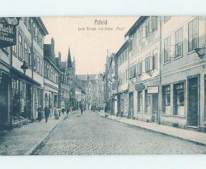c1910 SHOPS ALONG THE STREET Alfeld - Lower Saxony Germany F6698
