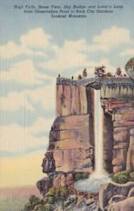 High Falls Stone Face Sky Bridge And Lovers Leap From Observation Point In Ro...
