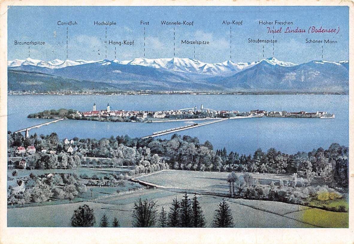 Insel Lindau Bodensee Gesamtansicht Lake Island General View