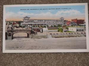 Seaside Inn, Boardwalk and Beach, Daytona Beach, Fla., 1920`s., unused