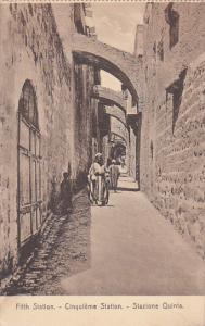 Fifth Station, Stazione Quinta, JERUSALEM, Israel, 1900-1910s