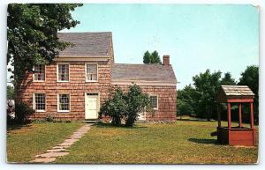 Postcard NY LI Long Island Huntington Walt Whitman House Exterior #2 F09