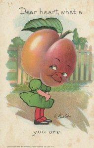 E. CURTIS; ..what a PEACH you are , 1910 ; TUCK Garden Patch Series