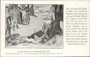 The Martyrdom of St. Edmund AD 870 Church history Cartoons