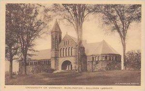 Vermont Burlington Billings Library University of Vermont Albertype