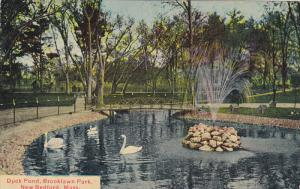 NEW BEDFORD, Massachusetts, 1900-1910's; Duck Pond, Brooklawn Park