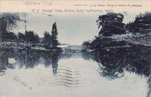 New York Albany Lake Washington Park Looking West 1907