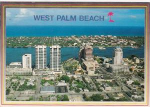 Florida West Palm Beach Skyline 1990