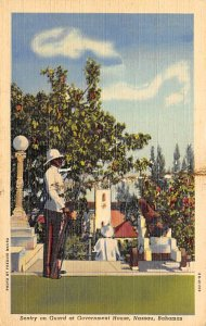 Nassau in the Bahamas Post card Old Vintage Antique Postcard Sentry on Guard ...