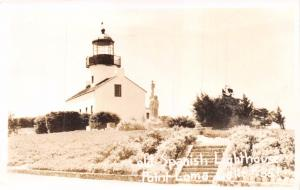 POINT LOMA CALIFORNIA OLD SPANISH LIGHTHOUSE~REAL PHOTO POSTCARD 1950s