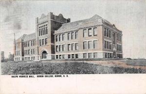Huron South Dakota Huron College Ralph Voorhees Hall Antique Postcard J60489