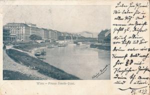 Wien 1899 Franz Josefs Quai Austria