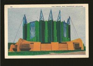 USA Chicago Worlds Fair 1933 The Travel Transport Building Postcard