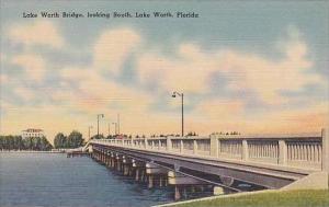 Florida Lake Worth Lake Worth Bridge Looking South