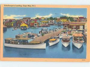 Linen HARBOR SCENE Cape May New Jersey NJ hp7766