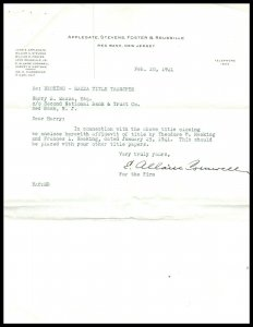 1941 Letterhead -Applegate, Stevens, Foster & Reussille, Red Bank, New Jersey A2