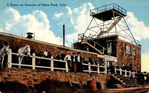Colorado Scene On Summit Pike's Peak Curteich