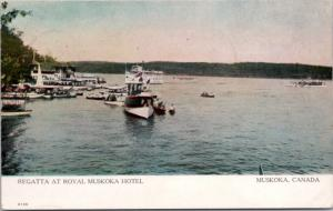 Regata at Royal Muskoka Hotel Muskoka Ontario ON Antique Postcard E17