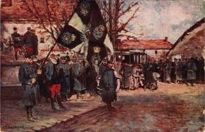 CPA Le 22 décembre 1914 le drapeau allemand du 87e régiment d'Infanterie(231730)