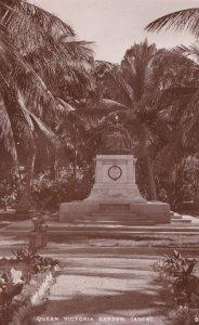 Queen Victoria Statue Garden Aden Yemen Rare Vintage Real Photo Postcard