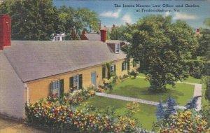 The James Monroe Law Office And Garden At Fredericksburg Virginia 1954