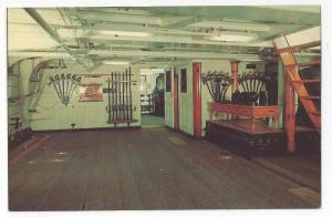 USS Constitution Postcard Charlestown MA Gun Room Naval Ship