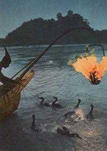 The Ukai on the River Nagara in Gifu Pref Japan Vintage Postcard