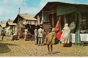 Ethiopia Addis Ababa clothing animated market 1963 postcard
