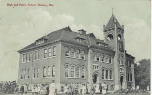 CHESLEY , Ontario , 1920 ; High & Public School