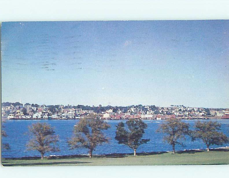 Pre-1980 VIEW FROM THE GOLF CLUB Lunenburg - Near Lahave & Bridgewater NS F9338