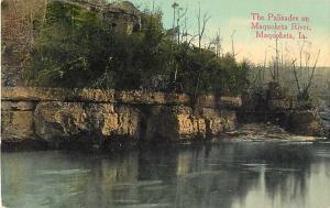 The Palisades on River at Maquoketa Iowa IA Divided Back