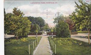 NORFOLK, Virginia, PU-1909; Lafayette Park