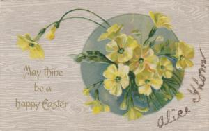 EASTER; May thine be a happy Easter, Yellow Flowers, 00-10s