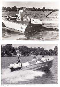 West Bend Outboard Motors - Two B&W Photosfor Ads