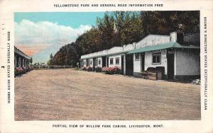 Livingston Montana Willow Park Cabins Partial View Vintage Postcard JA7471841