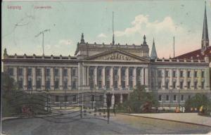 Leipzig Saxony Germany - University building destroyed in WW II, 1910s