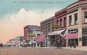 EVERETT, Washington, PU-1944; Hewitt Avenue West From Colby, Merchants Hotel