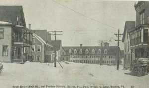 BARTON , Vermont , 1900-10s ; South End of Main Street