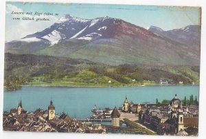 Switzerland Siusse Alpen Luzern Lucerne mit Rigi Vtg E Goetz Postcard c 1910