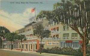 Clearwater Florida Gray Moss Inn Florida roadside 1940s Postcard Teich 7783