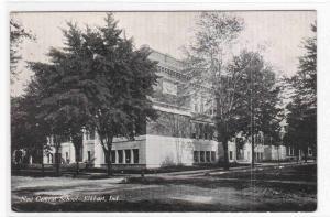 Central School Elkhart Indiana 1910s postcard