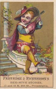 TC: Boy Palying The Cello, Partridge & Richardson's Bee-Hive Stores, Philadel...