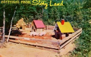 NH - Glen. Storyland, Three Little Pigs