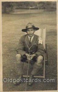 Boy & Girl Scout, Scouting, Unused crease left bottom corner, Unused