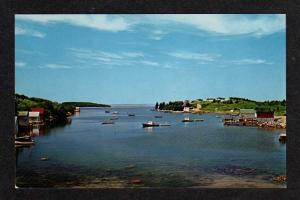 NS Camps  Boats HACKETT'S COVE NOVA SCOTIA Postcard