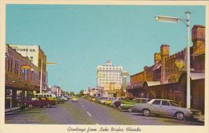 Florida Greetings From Lake Wales Main Street Business Section