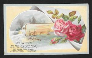 VICTORIAN TRADE CARD Stuart's Fine Candies