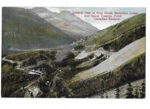 General View of New Grade Reduction Loops & Spiral Tunnels Canadian Rockies