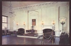 Independence Hall Assembly Room Pennsylvania State House Interior Postcard 1776